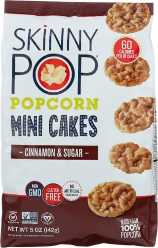 SkinnyPop Cinnamon & Sugar Popcorn Mini Cakes Perspective: front