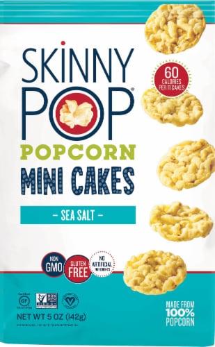 SkinnyPop Popcorn Sea Salt Mini Cakes Perspective: front