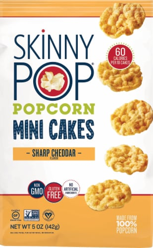 SkinnyPop Popcorn Sharp Cheddar Mini Cakes Perspective: front