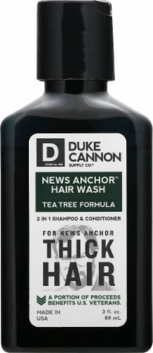 Duke Cannon News Anchor Hair Wash 2 in 1 Shampoo & Conditioner Perspective: front