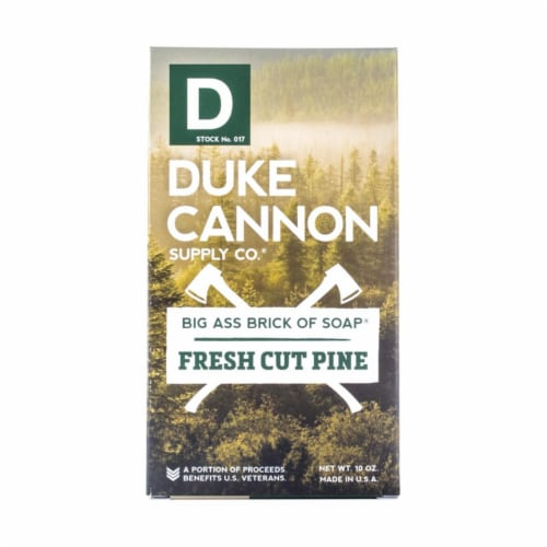 Duke Cannon Fresh Cut Pine Scent Bar Soap 10 - Case Of: 1; Perspective: front