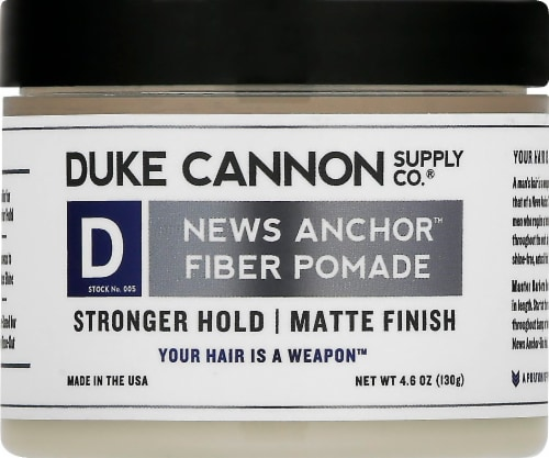 Duke Cannon News Anchor Fiber Pomade Perspective: front