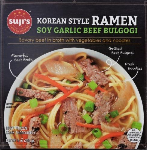 Suji's Savory Soy Garlic Beef Bulgogi Korean Style Ramen Perspective: front