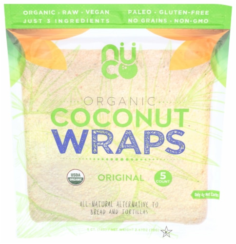 NUCO Organic Original Coconut Wraps Perspective: front