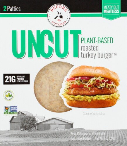 Before the Butcher UNCUT Plant-Based Roasted Turkey Burger Perspective: front