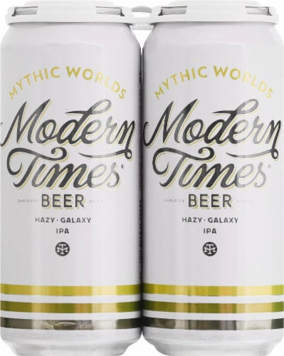 Modern Times Mythic Worlds IPA Beer Perspective: front