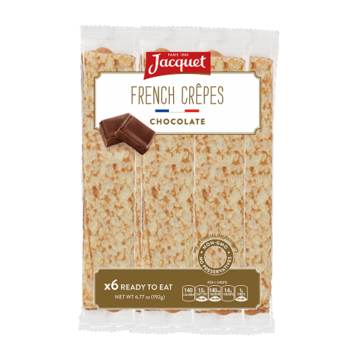 Jacquet French Chocolate Crepes 6 Count Perspective: front