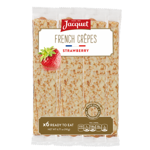 Jacquet French Strawberry Crepes 6 Count Perspective: front