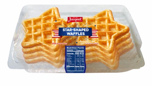 Jacquet Star-Shaped Waffles 10 Count Perspective: front