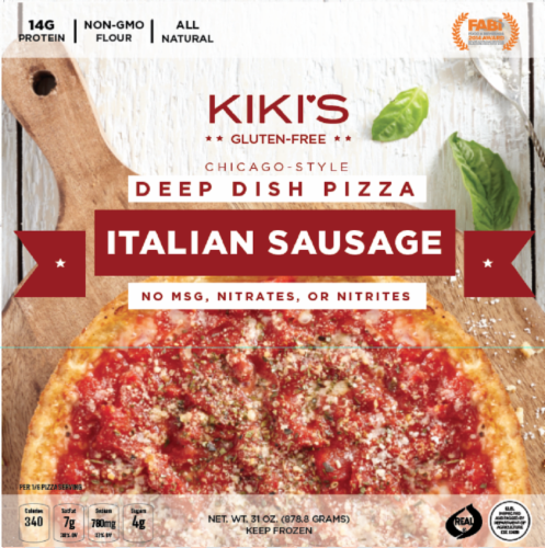Kiki's Gluten Free Chicago Style Italian Sausage Deep Dish Pizza Perspective: front