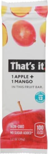 That's It Apple + Mango Fruit Bar Perspective: front