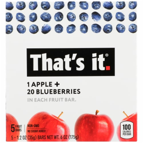 That's It Apple & Blueberries Fruit Bars Perspective: front