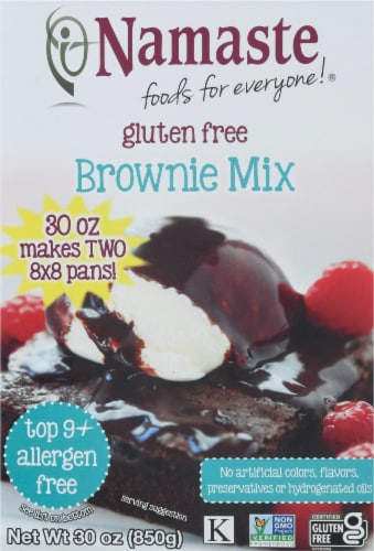 Namaste Foods Gluten Free Brownie Mix Perspective: front