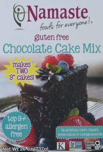 Namaste Foods Gluten-Free Chocolate Cake Mix Perspective: front