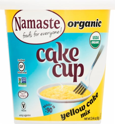 Namaste Foods Organic Cake Cup Yellow Cake Mix Perspective: front