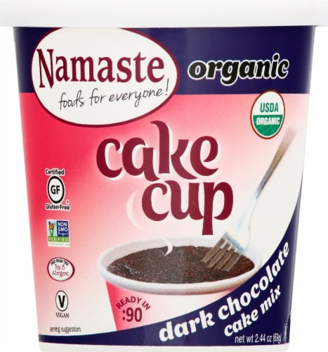 Namaste Foods Organic Cake Cup Dark Chocolate Cake Mix Perspective: front