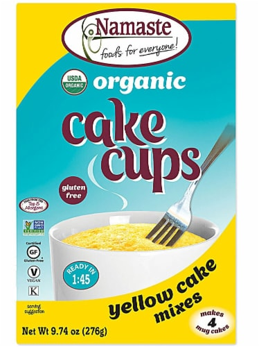 Namaste Foods  Organic Cake Cup Mix Packs Gluten Free   Yellow Cake Perspective: front