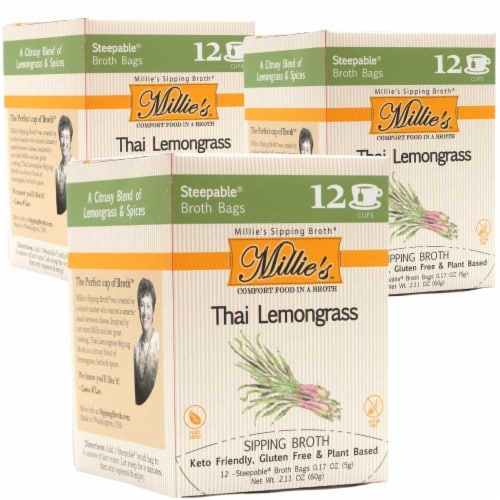 Millie's Thai Lemongrass Sipping Broth - 36 Count Perspective: front