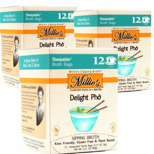 Millie's Delight Pho Sipping Broth - 36 Count Perspective: front