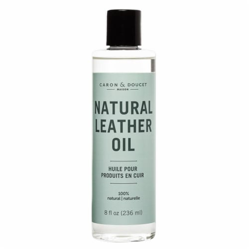 Leather Cleaner & Conditioner Oil 236ml, 100% Natural Perspective: front