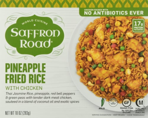 Saffron Road Pineapple Fried Rice with Chicken Perspective: front