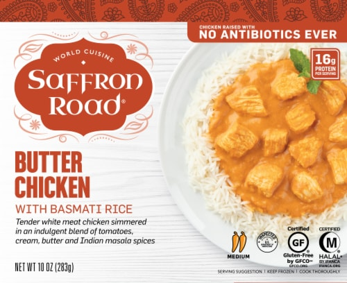 Saffron Road Butter Chicken with Basmati Rice Perspective: front