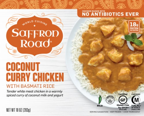 Saffron Road Coconut Curry Chicken Frozen Entree Perspective: front