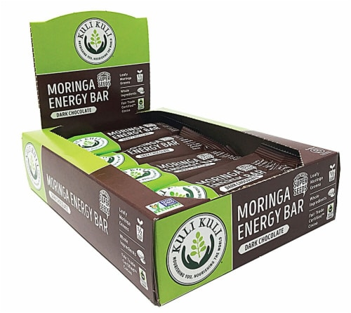 Kuli Kuli  Moringa Energy Bars   Dark Chocolate Perspective: front