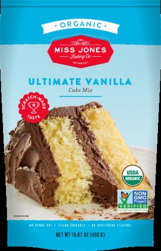 Miss Jones Organic Vanilla Cake Mix Perspective: front