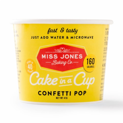 Miss Jones Baking Co. Confetti Pop Cake in a Cup Perspective: front