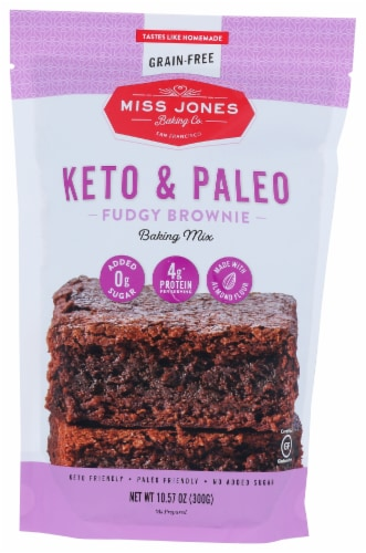 Miss Jones Keto & Paleo Fudgy Brownie Baking Mix Perspective: front
