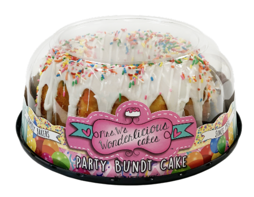 Mrs. W's Wonderlicious Cakes Party Bundt Cake Perspective: front