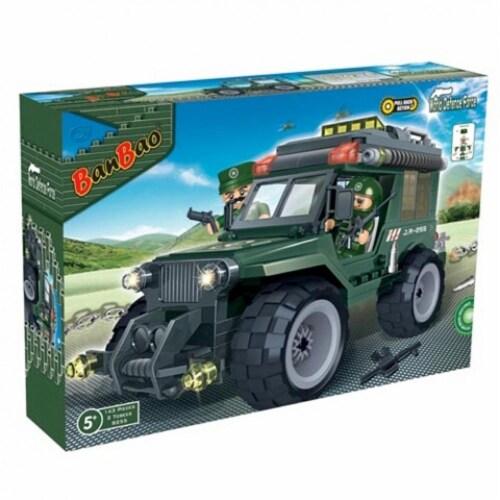 BanBao Interlocking Blocks Military Jeep 8255 (143 Pcs) Perspective: front