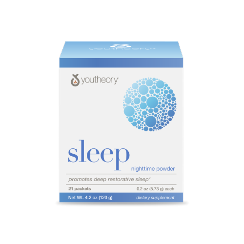 YouTheory Sleep Nighttime Powder Packets Perspective: front