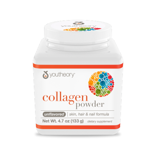 YouTheory Unflavored Collagen Powder Dietary Supplement Perspective: front