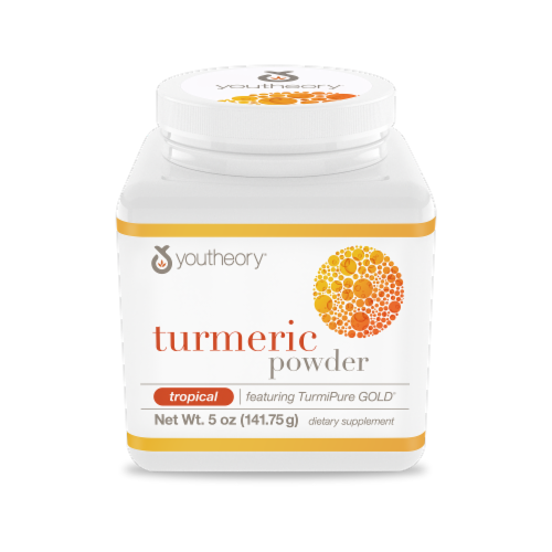 YouTheory Tropical Turmeric Powder Perspective: front