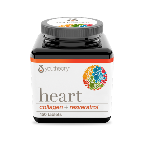 Youtheory Heart Collagen Mini Tablets Perspective: front