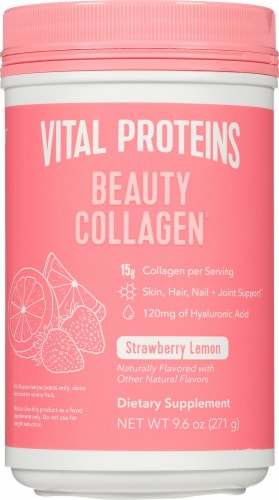 Vital Proteins Beauty Collagen Strawberry Lemon Dietary Supplement Perspective: front