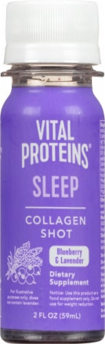 Vital Proteins Sleep Collagen Shot Blueberry & Lavender Dietary Supplement Perspective: front