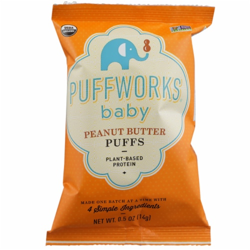 Puffworks Baby Peanut Butter Puffs Perspective: front