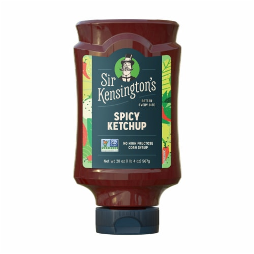 Sir Kensington's Vegan & Paleo Spicy Ketchup Gluten-Free Condiment Perspective: front
