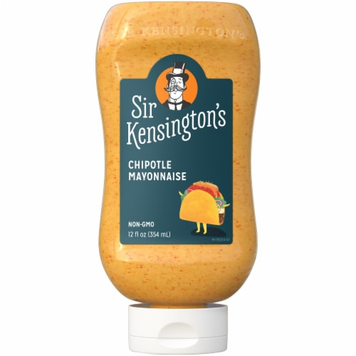 Sir Kensington's Keto & Paleo Chipotle Mayonnaise Gluten-Free Condiment Squeeze Bottle Perspective: front