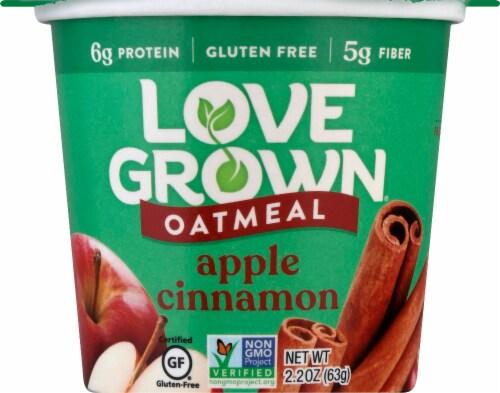 Love Grown Apple Cinnamon Hot Oats Perspective: front