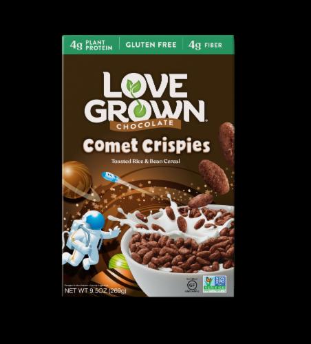 Love Grown Chocolate Comet Crispies Cereal Perspective: front