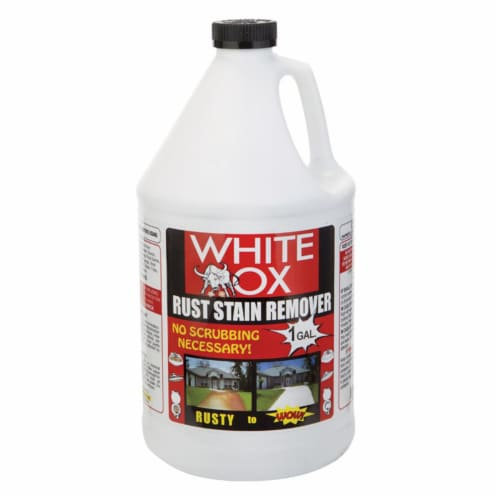 White-OX 1483155 1 Gal Rust Stain Remover, Pack of 4 Perspective: front