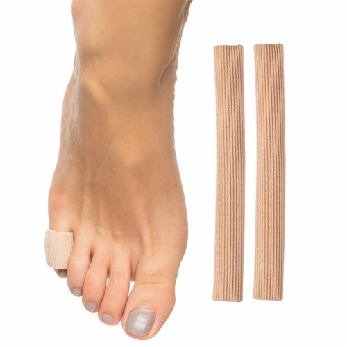 ZenToes Open Toe Tubes Fabric Gel Lined Sleeves Protect Corns, Blisters - 2 Pack (Small) Perspective: front