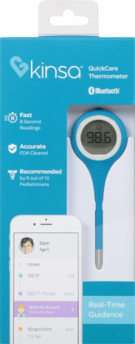 Kinsa Inc. QuickCare Thermometer Perspective: front