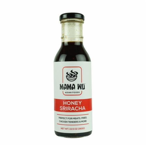 Mama Wu Honey Sriracha Sauce Perspective: front