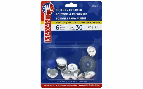 Maxant Cover Button Kit Size 30 6pc Perspective: front