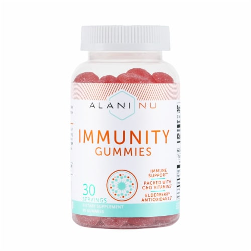 Alani NU Immunity Gummies 30 Count Perspective: front